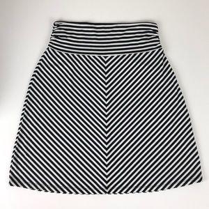 Faded Glory striped midi skirt